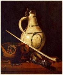 natura morta con pipa XVII secolo