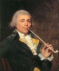 ritratto con pipa fine XVIII secolo