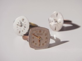 old watches become unique adjustable rings
