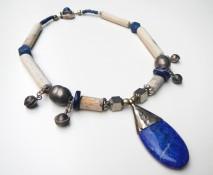 silver, lapis lazuli, Thames pipes ~ argento,pipe dal Tamigi e lapislazzuli