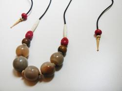 SOLD Madagascar zebu horn necklace ~ collana corno di zebù del Madagascar