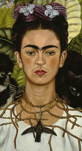 Frida Kahlo selfportait, inspiration for necklace ~ autoritratto con collana di spine