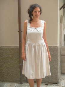 pure linen summer dress ~ vestito in puro lino
